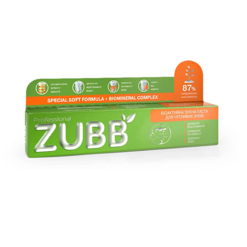 Біоактивна зубна паста ZUBB для чутливих зубів
