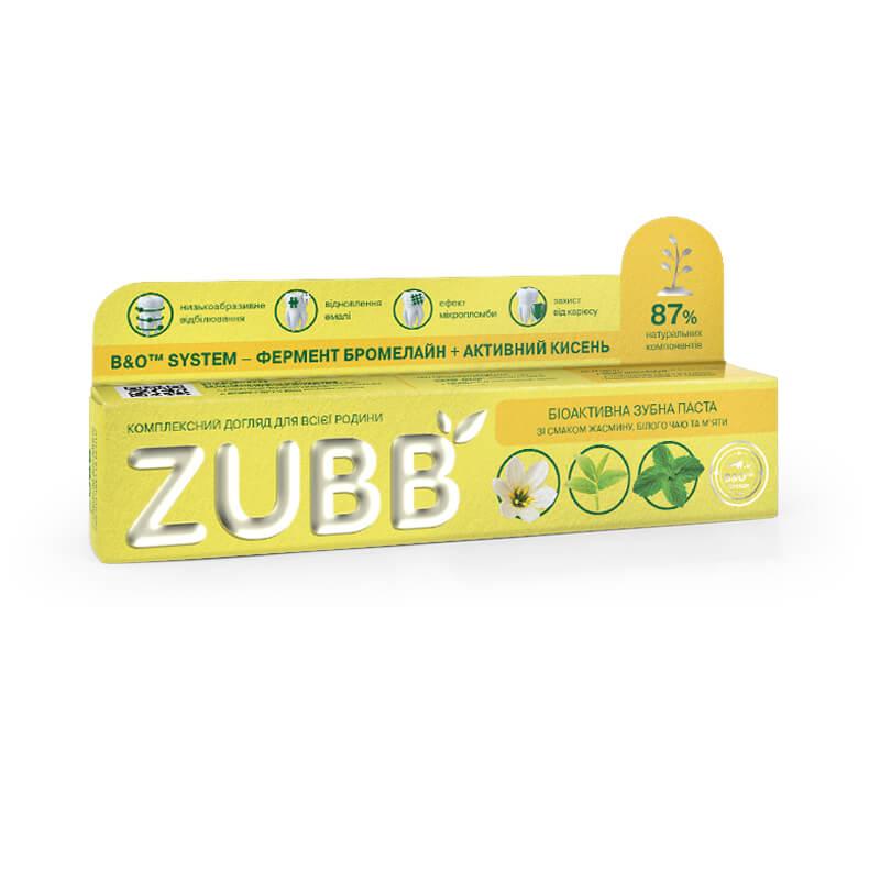 Біоактивна зубна паста ZUBB зі смаком жасмину, білого чаю і м'яти