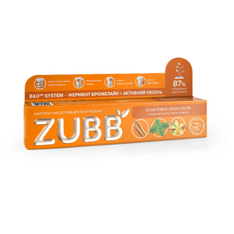 Биоактивная зубная паста ZUBB со вкусом корицы, мяты и ванили